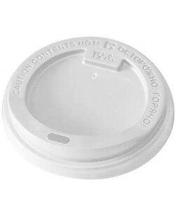 Крышка для стакана диаметр 80 мм с открытым питейником (100 шт)