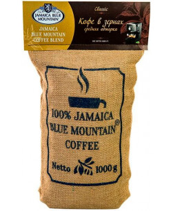 Кофе в зернах Jamaica Blue Mountain Blend 1 кг (Ямайка Блю Маунтин Блэнд)