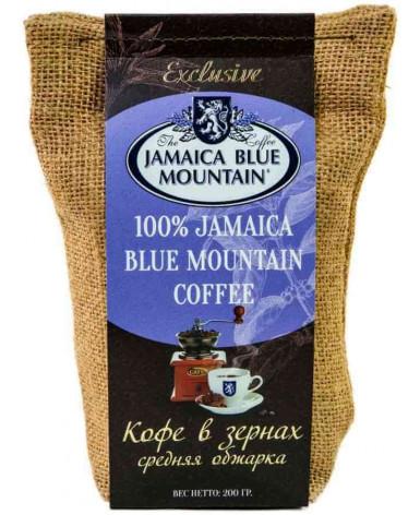Кофе в зернах Jamaica Blue Mountain Джутовый мешок 200 гр (Ямайка Блю Маунтин)