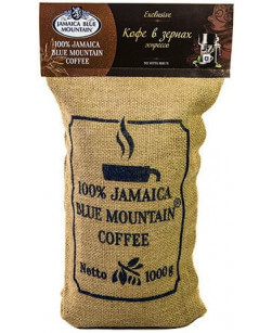 Кофе в зернах Jamaica Blue Mountain эспрессо 1 кг (Ямайка Блю Маунтин)