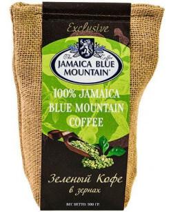 Кофе в зернах зеленый Jamaica Blue Mountain 300 г (Ямайка Блю Маунтин)