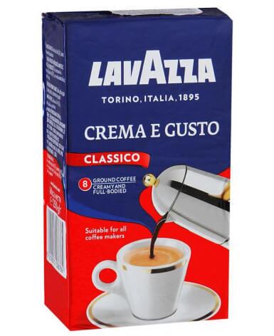 Кофе молотый Lavazza Crema e Gusto 250 г (Лавацца Крема Густо)