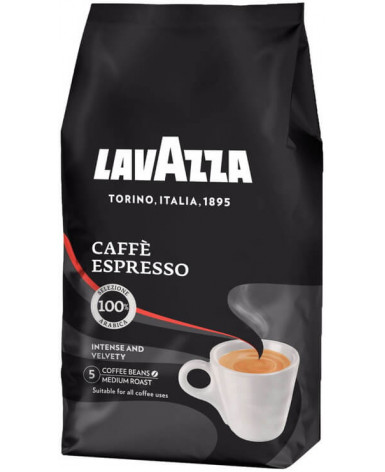 Кофе в зернах Lavazza Caffe Espresso 1 кг (Лавацца Кафе Эспрессо)