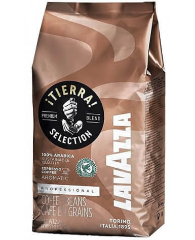 Кофе в зернах Lavazza Tierra Intenso 1 кг (Лавацца Тьерра Интенсо)