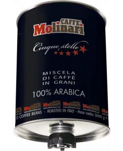 Кофе в зернах Caffe Molinari Cinque Stelle 100% Arabica 3 кг (Молинари Пять Звезд 100% Арабика)