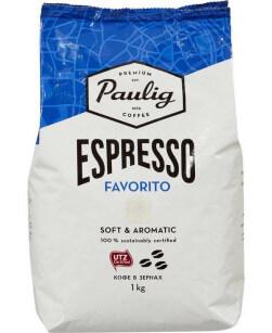 Кофе в зернах Paulig Espresso Favorito 1 кг (Паулиг Эспрессо Фаворито)