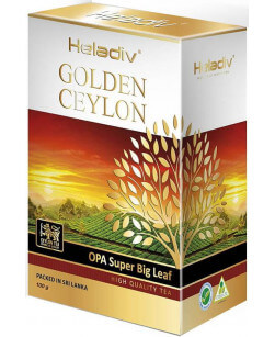 Чай черный листовой Heladiv Golden Ceylon OPA Super Big Leaf 100 гр (Хеладив Цейлон Ора Супер Большой Листовой)