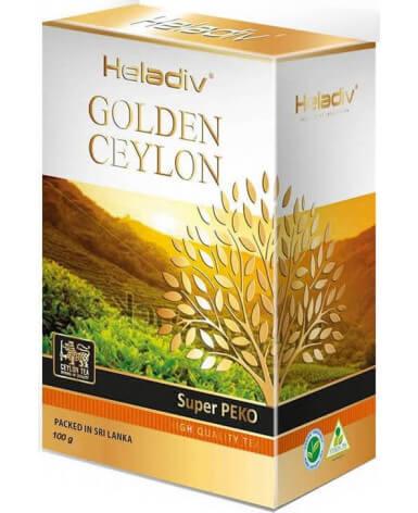 Чай черный листовой Heladiv Golden Ceylon Super Pekoe 100 гр (Хеладив Голден Цейлон Супер Пекое)