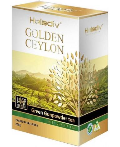 Чай зеленый листовой Heladiv Golden Ceylon Green Gunpowder  (Хеладив Голден Цейлон Грин Грюнпаудер)