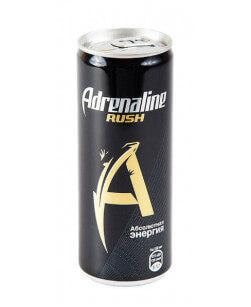 Энергетический напиток Adrenaline Rush (Адреналин Раш) 250 мл жест. банка 12 шт в упаковке