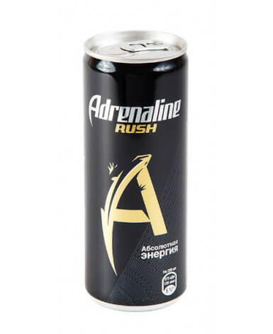 Энергетический напиток Adrenaline Rush 250 мл жест. банка 12 шт в упаковке