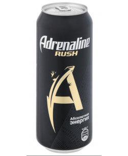 Энергетический напиток Adrenaline Rush (Адреналин Раш) 500 мл жест. банка 12 шт в упаковке