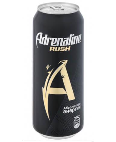 Энергетический напиток Adrenaline Rush 500 мл жест. банка 12 шт в упаковке