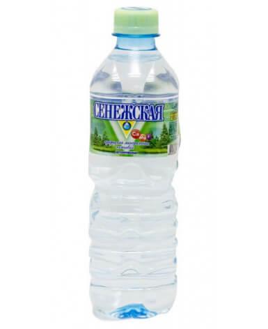 Вода минеральная Сенежская негазированная 500 мл 12шт в запайке